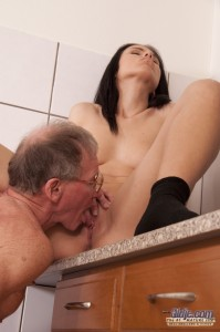 Young spoiled babe fucks old man