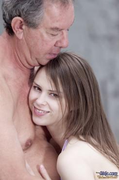 Hot young girl fucks old man
