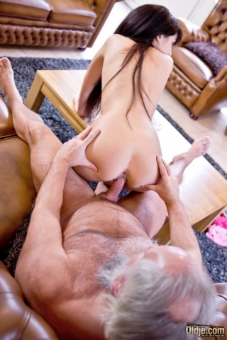 Heart shape ass tempting older man to fuck