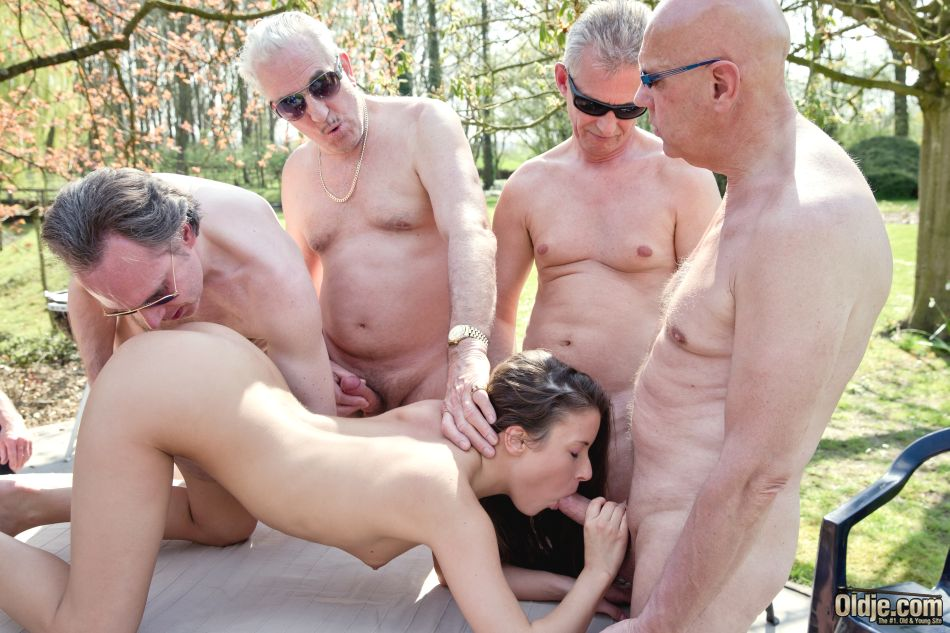 Old Woman Gangbang