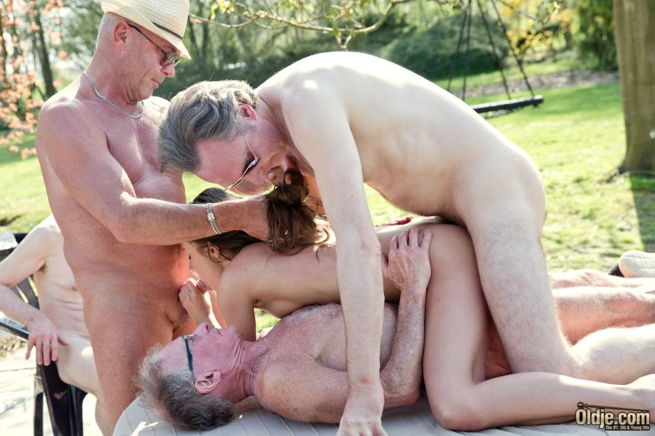 Old men gangbang slut understood